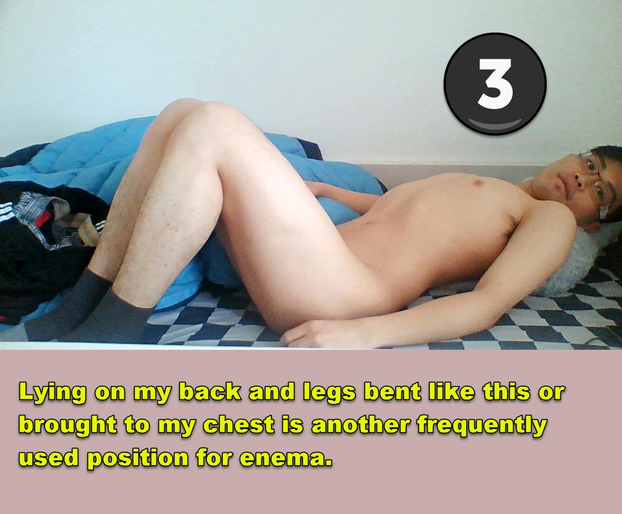 lying on my back for enema